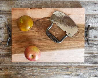 Men Wooden Gift, Medium Cutting + Serving Board, Cheese Board, Personalized Board, Reclaimed Wood, Holiday Decor, Dad Gifts, Gift for Her