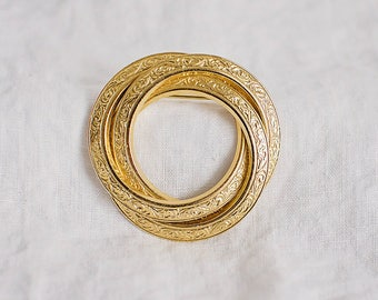 Circle Trio Brooch