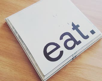 Simple Eat Sign, Kitchen Decor, Rustic Wooden Signs, Farmhouse, Antiqued Finish, Restaurant, Coffee Shop, Cafe, Dining Room