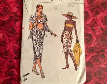 80's Vintage Swimwear Sewing Pattern