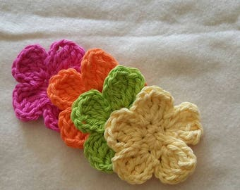 Crochet 5 Petal Flower Motifs