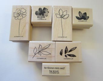 7 rubber stamps - Botanical Blooms two step stampin' - Stampin Up