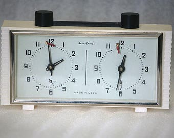Soviet Chess Clock Working Russian Yantar Chess Tournament Timer 1980s from Russia Soviet Union USSR
