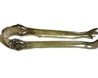 Art Nouveau Sugar Tongs, Norge Silver Claw Tongs Norwegian Norge 310 SILVER / Dress Up Tea Parties /  Hostess with the Mostess