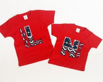 Patriotic Monogram Shirt