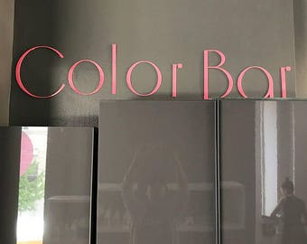 "10""H 3D Plexiglass Acrylic Letters With Your Own Text - Custom Laser Cut and Engraving-Business Sign 3D Wall Decors Office Wall Art"