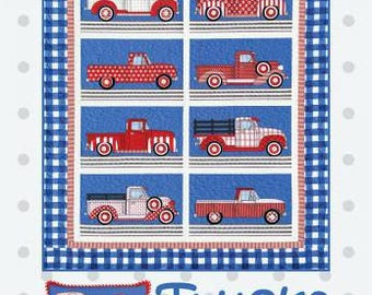 Trucks by Amy Bradley Designs - Pattern for Quilt, Wall Hanging, and Pillow