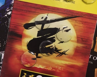 Miss Saigon Pin Back Button Set