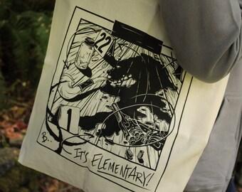 Sherlock Tote Bag   Sherlock Holmes Tote Bag   Hand Screen Printed Sherlock Gift