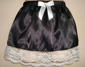 Chiffon Slip Skirt option of two lenght 14 or 16 WHITE