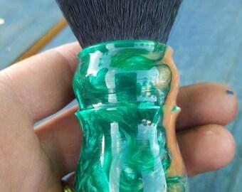 Amazonia 26mm Synthetic Tuxedo Shaving Brush, Chunky Handled, 26 mm