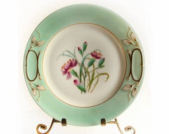 Haviland France Limoges Plate H&Co ~ Art Nouveau Style Floral Design ~ French Plate ~ Decorative Home Decor