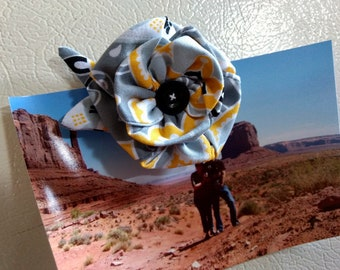 Fabric Flower Magnet