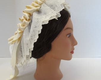 Ivory Victorian, Civil War Lace Cap - Affordable Elegance