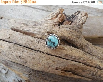 ON SALE Turquoise ring handmade in sterling silver 925 with New Landers turquoise