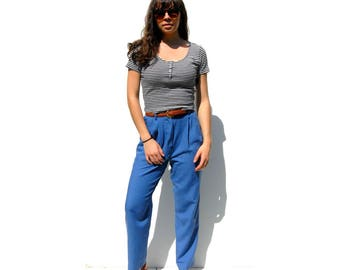 Light slate blue high waist high rise tapered trousers 1990s 90s VINTAGE