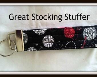 Knitting Themed Wristlet Keychain