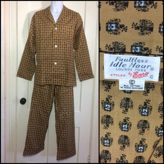 deadstock 1960s pajamas