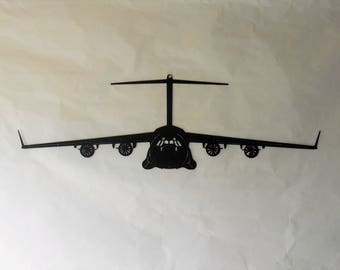 C-17 Boeing GlobeMaster III Aircraft Military Metal Wall Decoration USAF Spooky Gunship Lockheed