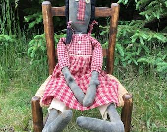 Edith Extreme Primitive Folk Art Doll