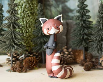 Red Panda Sculpture by Bonjour Poupette