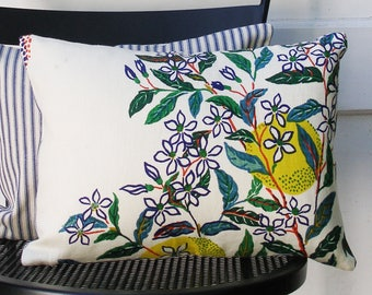 Schumacher Pillow Cover - Citrus Garden by Josef Frank - 10 1/2 X 14 1/2 inch - Primary - Decorative Pillow Cover - ready to ship