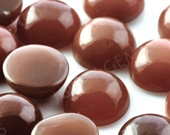 Brown Moonstone Cabochon 10mm Round - 1 cab