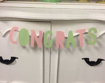 Mint and Blush Congrats Banner