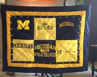 Michigan Stadium throw