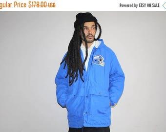 On SALE 35% Off - VTG 1970s New York Giants Champion Brand NFL Football Athletics Winter Parka Jacket Coat - 90s Clothing - Mv0223