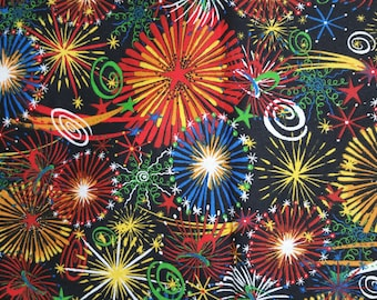 Firework Fabric, Cotton Fabric