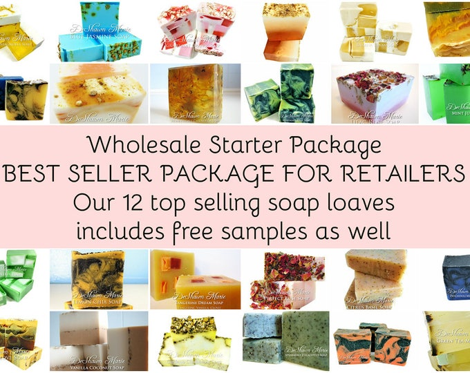 12 soap loaves wholesale starter package