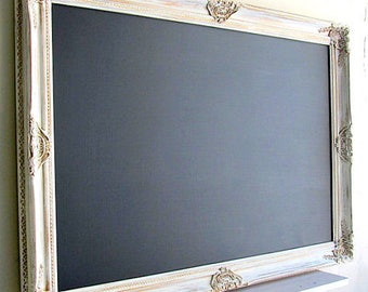 CUSTOM ORDER for Morgan - 30x42 Magnetic Chalkboard in Vintage White