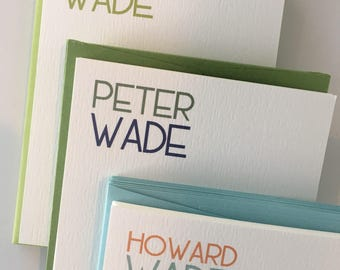 Stacked Name Stationery - Modern