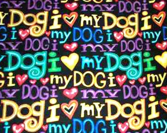 LOVE My Dog Fabric  41 inches 2 pieces Timeless Treasures Fabric