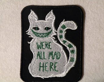 Cheshire Cat Iron on Patch 3.5 x 4.4 inches