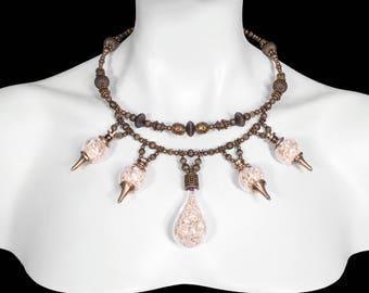 Glass Vial of Bones Crown Necklace - Skaal