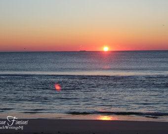 Beach Ocean Sunrise  Beach Art Photo Print Jersey Shore