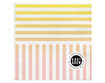Party Napkins | Rainbow Stripe | 20 Pack