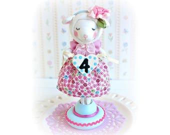 Lamb Cake Topper, Baby Lamb 2nd Birthday, Farm Cake Topper, Little Lamb Birthday Cake Topper, First Birthday Girl, Baby Shower, Cake Decor
