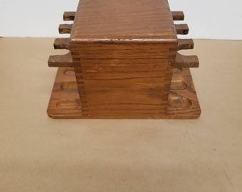 Vintage Pipe Stand with Humidor