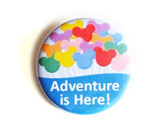 Disney Bound Pinback Buttons Adventure Is Here Balloons Fun Accessories