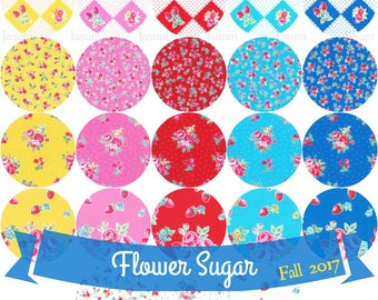 Complete Fat quarter bundle from the Flower Sugar Very Berry Cherry, Fall 2017 fabric collection by Lecien of Japan -23 pieces