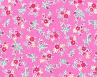 Small Floral in pink from the Flower Sugar Berry Fall 2017 fabric collection by Lecien of Japan - 31515L-20