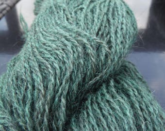 Overdyed Evergreen Farm Fresh 70/30 Jacob Wool and Mohair Sport Weight Yarn, approx 4 oz/400 yards