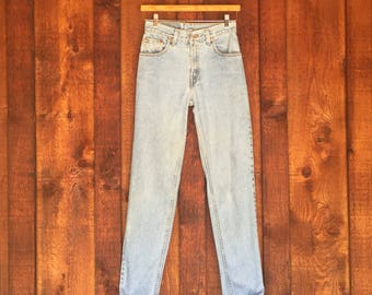 Vintage LEVIS 550 High Waist Light Wash Denim Jeans