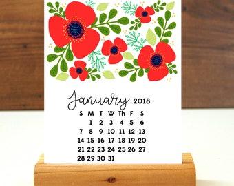 2018 Desk Calendar -  Floral