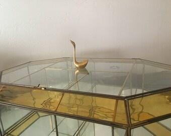 Vintage Brass Swan