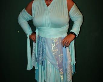 Ice Fairy Dress, Fairy Bridesmaid Dress, Fairy Costume, Fantasy Wedding Dress, Winter bridesmaid dress, Pixie Point dress