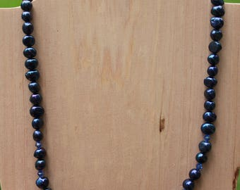 Blue Freshwater Pearls Necklace